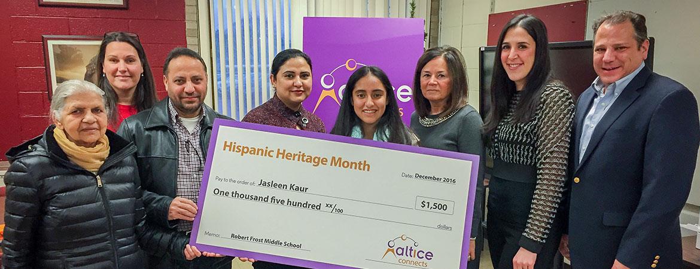 Hispanic Heritage Contest, Robert Frost MS